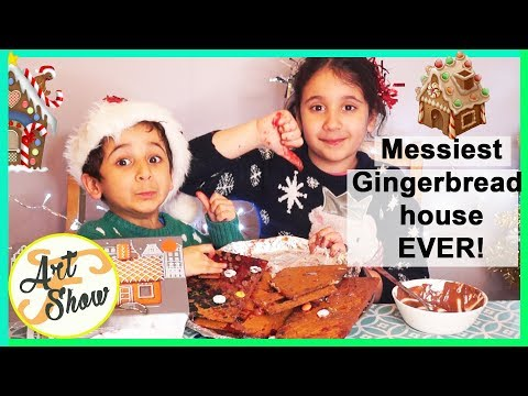 Messiest Gingerbread  House EVER! | Fatema's Art Show