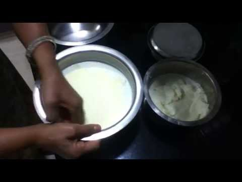 Collecting Malai From Milk