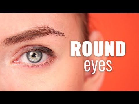 Contouring and makeup for round faces and eyes