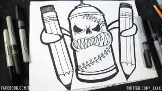 dessin bombe de peinture ii graffiti dwzaxx - Dessin Graffiti