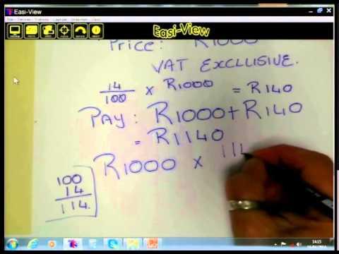 Math lit Basics - Gr12 - Percentage Inclusive & Exclusive