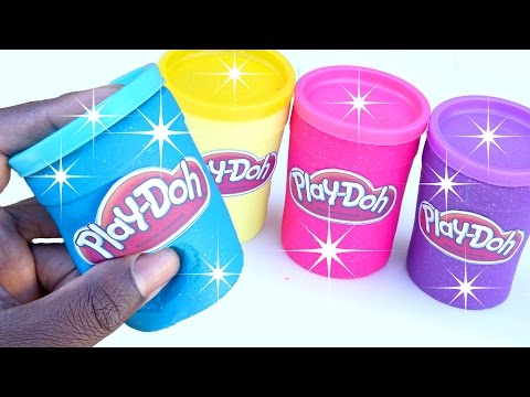 DIY How Make Glitter Play Doh Mighty Toys Tubs Modelling Clay Learn Colors Fun And Creative