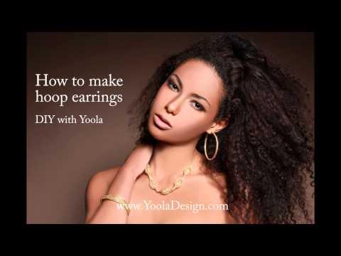 How to make hoop earrings  - yooladesign.com