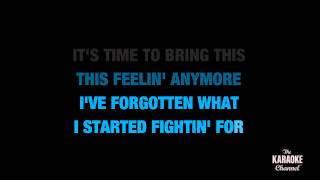 """Can't Fight This Feeling in the Style of """"REO Speedwagon"""" karaoke video with lyrics (no lead vocal)"""