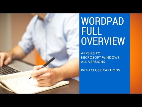Microsoft Wordpad Full Overview | Windows 10 / 8 / 7 / XP with Close Captions | Lesson 1/6