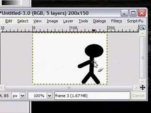 How to create an Animated GIF with GIMP