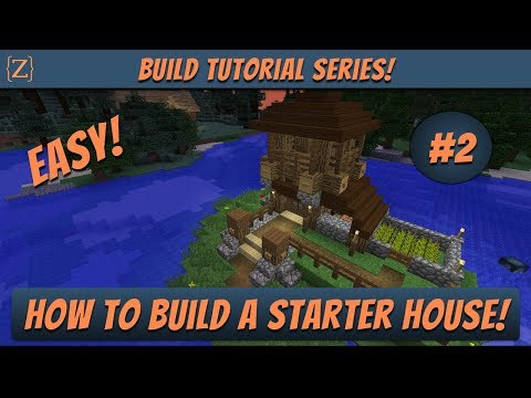Minecraft Build Tutorial: Starter House #2 | How to Build in Minecraft! Easy to Follow Instructions!