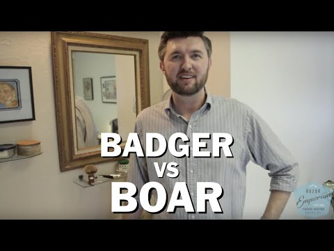 Badger vs. Boar Wet Shave Brush