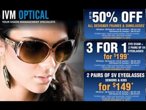 IVM Optical Store Brampton for Eyeglasses, Sunglasses and Contact Lenses