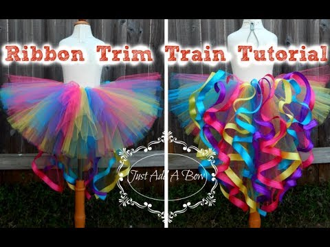 HOW TO: Make a Ribbon Trim Tutu with a Train by Just Add A Bow