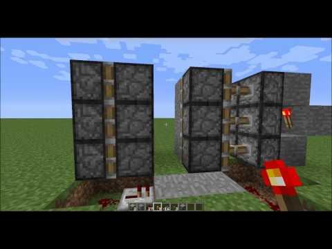 2x3 Hidden Piston Door - Minecraft Redstone Tutorial