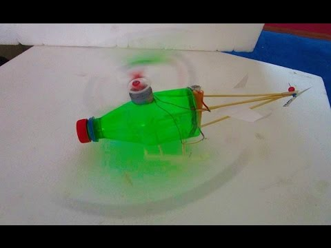 how to make helicopter at home - Bottle Helicopter