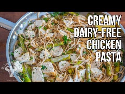 Creamy Dairy-Free Chicken Pasta / Pasta Cremosa de Pollo Sin Lácteos