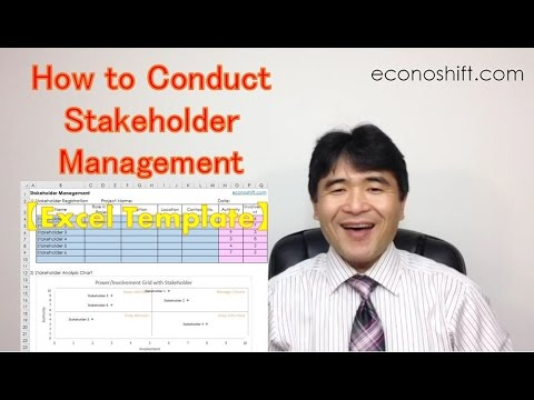 Stakeholder Analysis: How to Conduct Stakeholder Management.【Excel template】