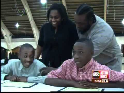 Students in middle school awarded scholarships