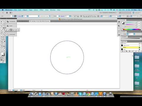 How to create circles from the centre point with Adobe Illustrator CS5