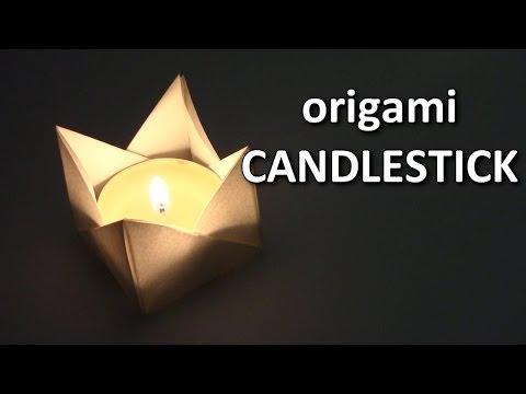 Halloween Origami Candle    cómo hacer origami candelabro - Origami easy tutorial