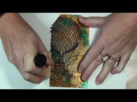 Jazzing up your tags with alcohol inks