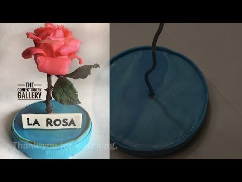 Rose / Loteria Card Cake Topper Base Timelapse Tutorial : Armature and Fondant covering