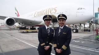 Female pilots fly Emirates A380 for International Women