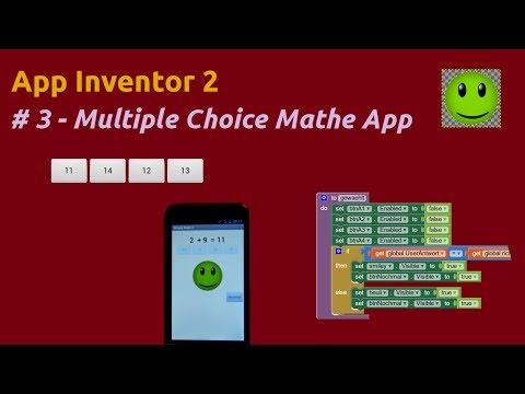 App Inventor 2 Multiple Choice Mathe App
