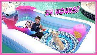 Download 24 HOUR CHALLENGE OVERNIGHT IN MY POOL   Kayla Davis Video