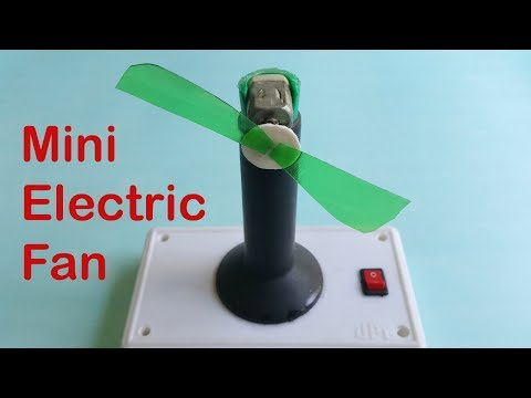 How To Make A Table Fan With Electric Motor / Easy Science Fair Project For Kids