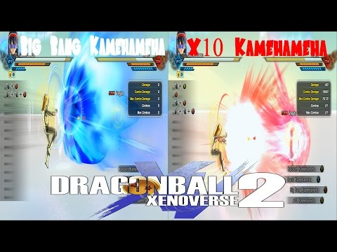 Big Bang Kamehameha VS X10 Kamehameha Dragon Ball Xenoverse 2