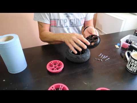 Painting Evolve Skateboard AT Wheels - Vlog #35