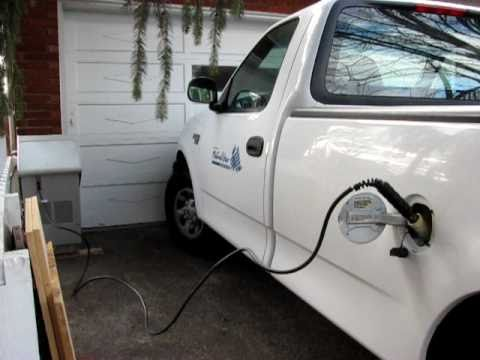 Filling my Natural Gas F-250 at Home with a FuelMaker - CNG - Alt Fuel