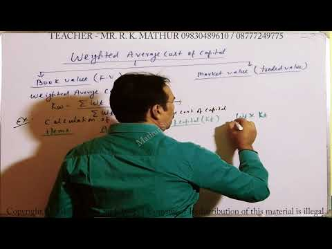 Calculate Weighted average Cost of Capital Sums 17 | Cost of Capital | Financial Management