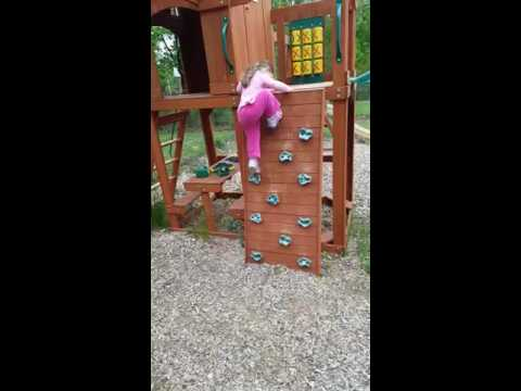 Rock Climbing on the Swing Set