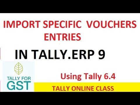 import 'SPECIFIC' voucher entries  from Ist co. to 2nd Co.