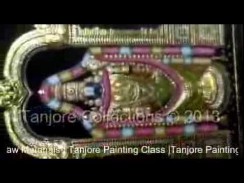 Tanjore painting | Tutorial | DIY | Learn how to make Emboss tanjore painting - Balaji