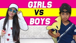 Girls Vs. Boys : Planning A Vacation | SAMREEN ALI