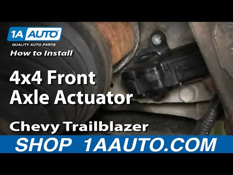 How To Install Repair Replace 4x4 Front Axle Actuator Chevy Trailblazer GMC Envoy 02-06 1AAuto.com