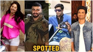 Varun Dhawan, Arjun Kapoor, Janhvi Kapoor And Others Spotted In The City