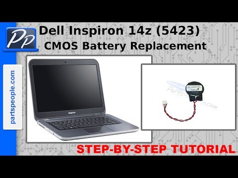 Dell Inspiron 14z (5423) CMOS Battery Video Tutorial Teardown