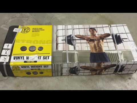 Build your own home gym - Gold's Gym Vinyl Weight Set, 100 lbs (unboxing and setup)
