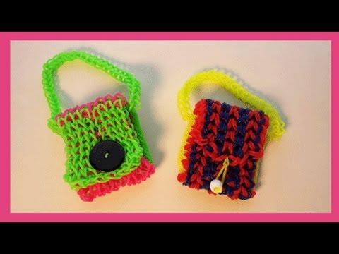 Make any Rainbow (Fork or Loom Cuff) into a Mini Purse!
