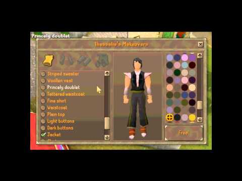 RuneScape how to change clothes