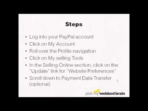 How to Find Your PayPal PDT Token