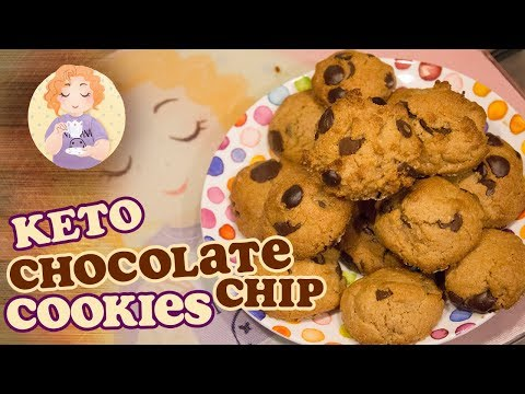 Easy Keto Chocolate Chip Cookies - Low Carb Sugar Free Gluten Free