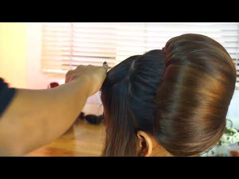 Retro Front Hair Style | Special Creative  Look Vintage Inspired  Party Bun