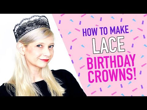 How to Make a Lace Birthday Crown - HGTV Handmade