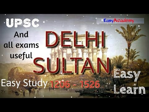 NCERT 1- part  History of DELHI SULTAN | UPSC & other EXAMS | Easy to learn Useful Material 2018