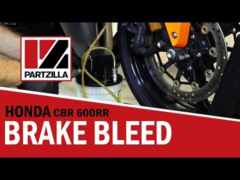 How to Bleed Motorcycle Brakes on a Honda CBR 600 RR|Partzilla.com