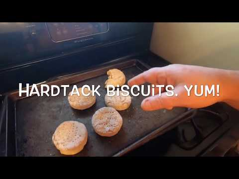 Man Cooking: Hardtack Biscuits SURVIVAL FOOD