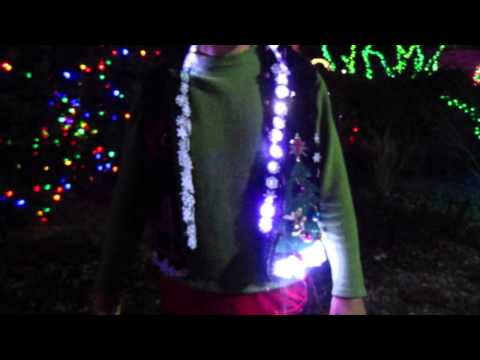 A Christmas Light Display on an Ugly Sweater!
