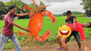 Must Watch Comedy Video 2020 | Try Not To Laugh Crab Special _ Famous Emon